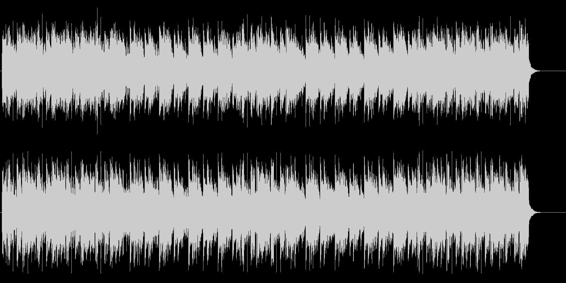 淡々としたアコースティックなBGMの未再生の波形