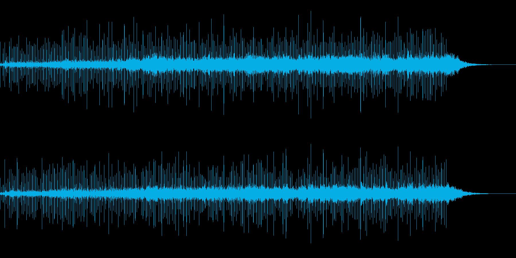 物悲しく、浮遊感のある空間系の曲の再生済みの波形