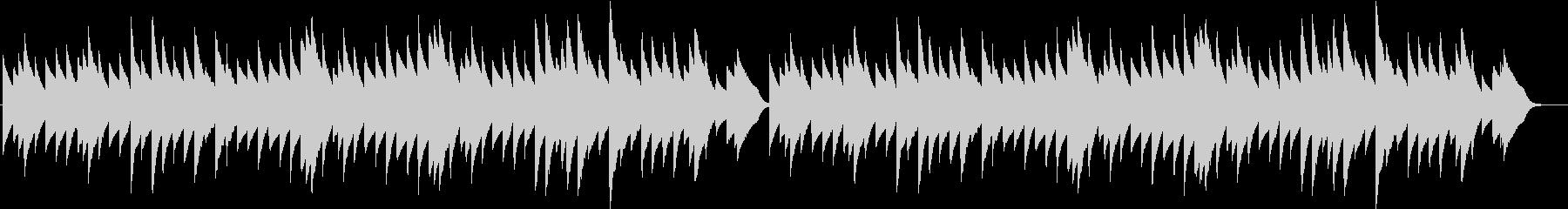 サイレントナイトのオルゴールバージョンの未再生の波形