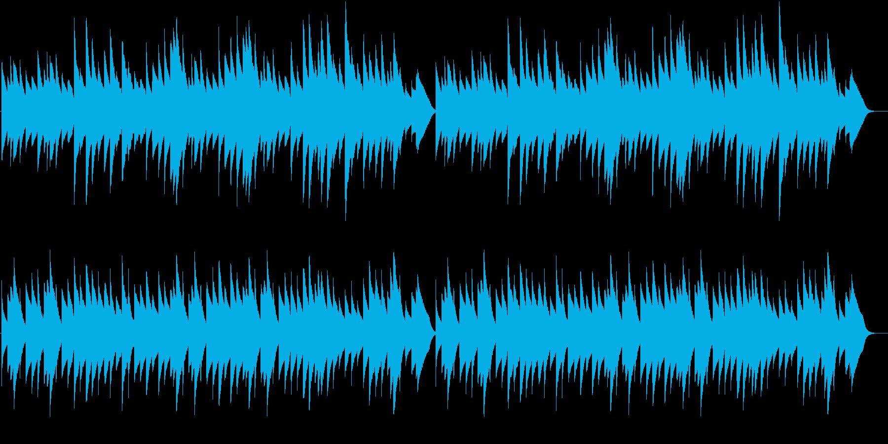 サイレントナイトのオルゴールバージョンの再生済みの波形