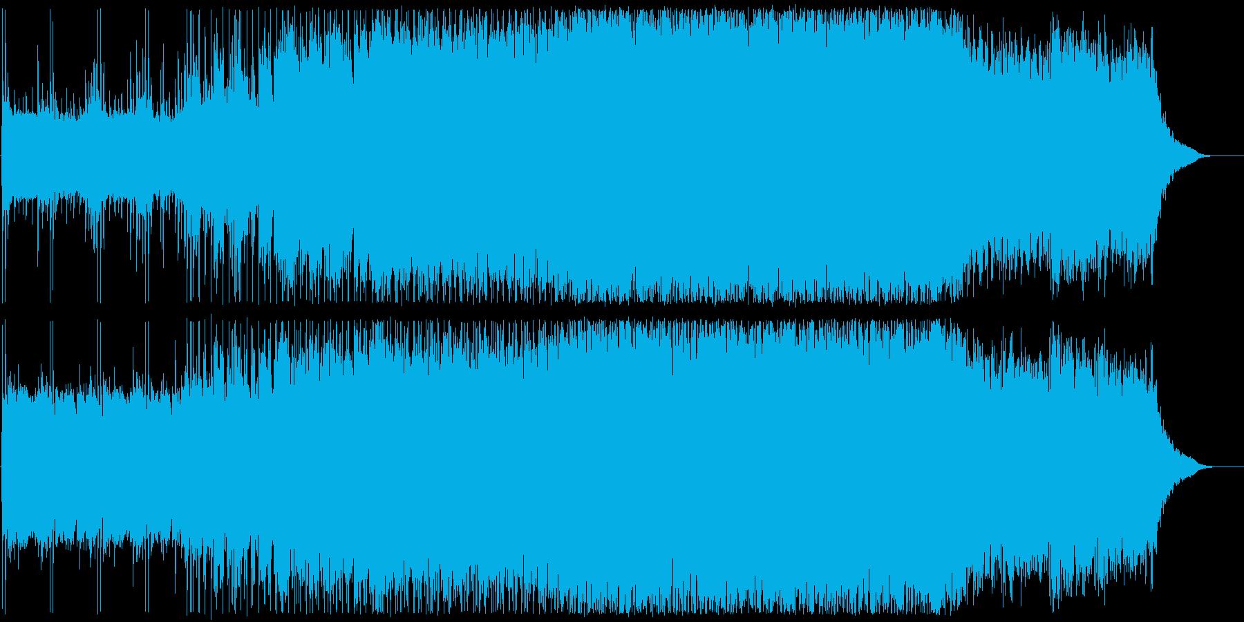 U2のようなギターロックの再生済みの波形