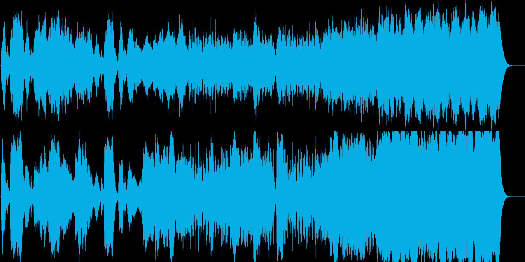 フルートが軽快な穏やかクラシックの再生済みの波形