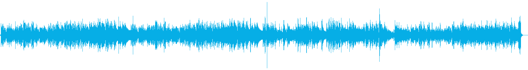 マイナー調のアコギインストの再生済みの波形