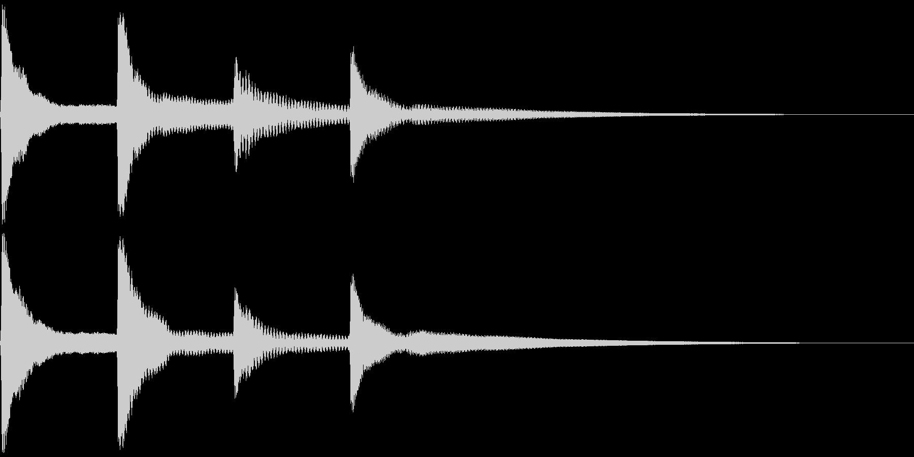 ピンポンパンポン。お知らせ音(開始)の未再生の波形