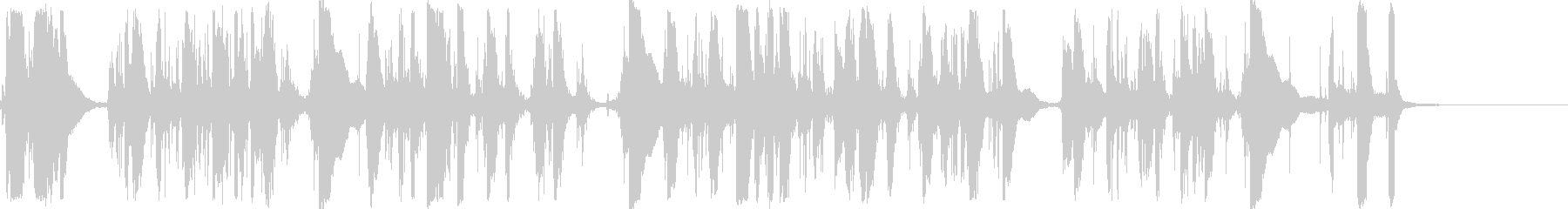 カチャカチャチーン・タイプライター長めの未再生の波形