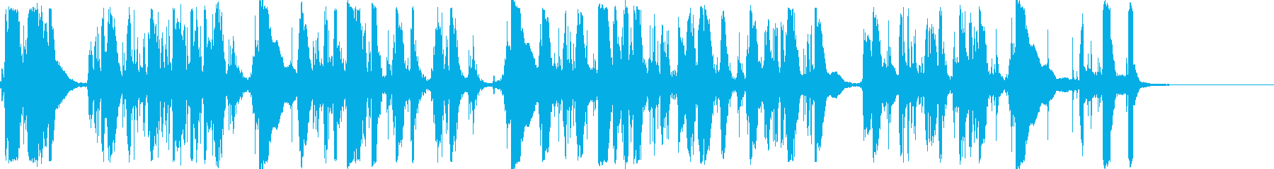 カチャカチャチーン・タイプライター長めの再生済みの波形