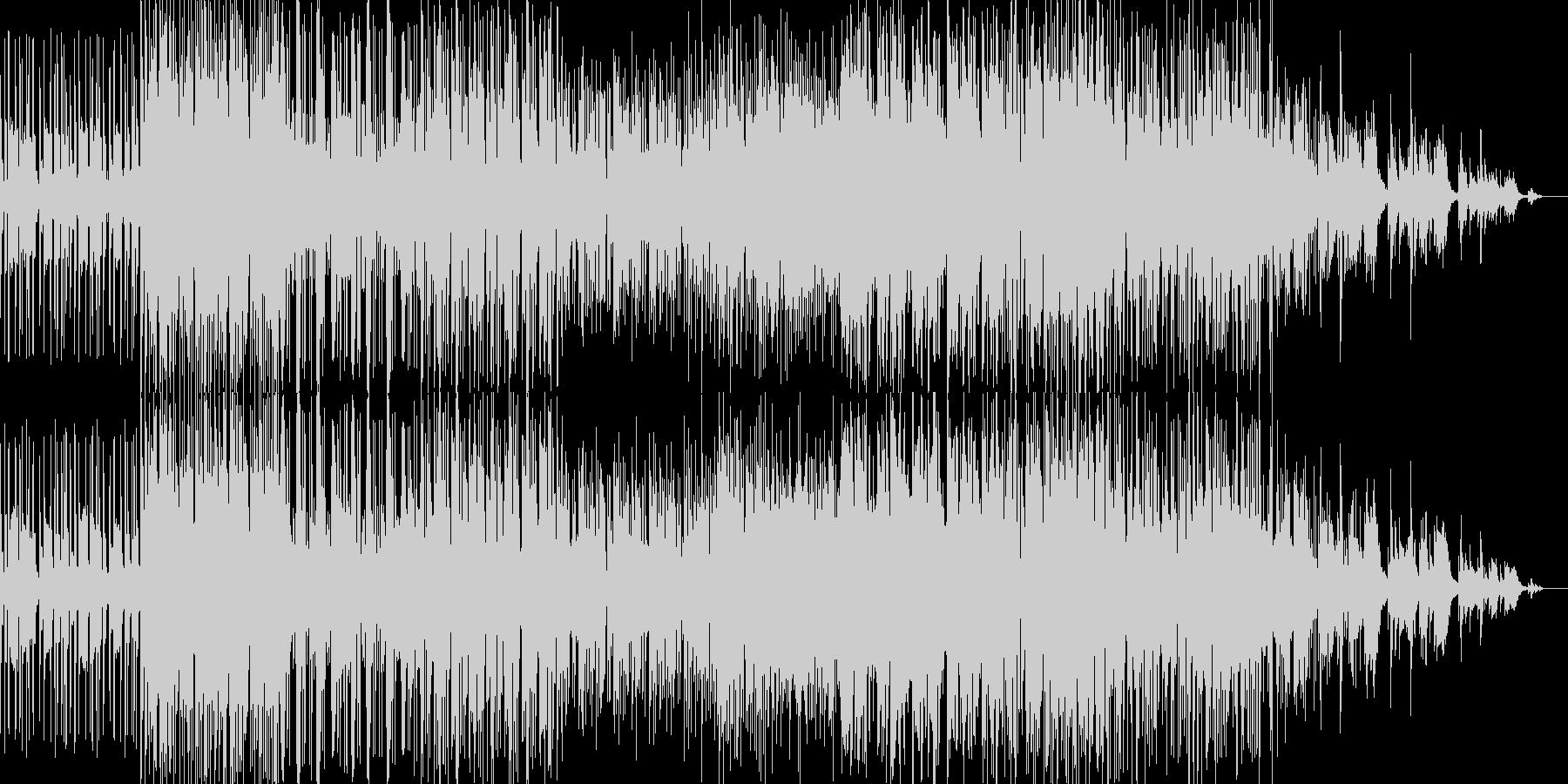 ドラムンベース風グリッジトロニカの未再生の波形