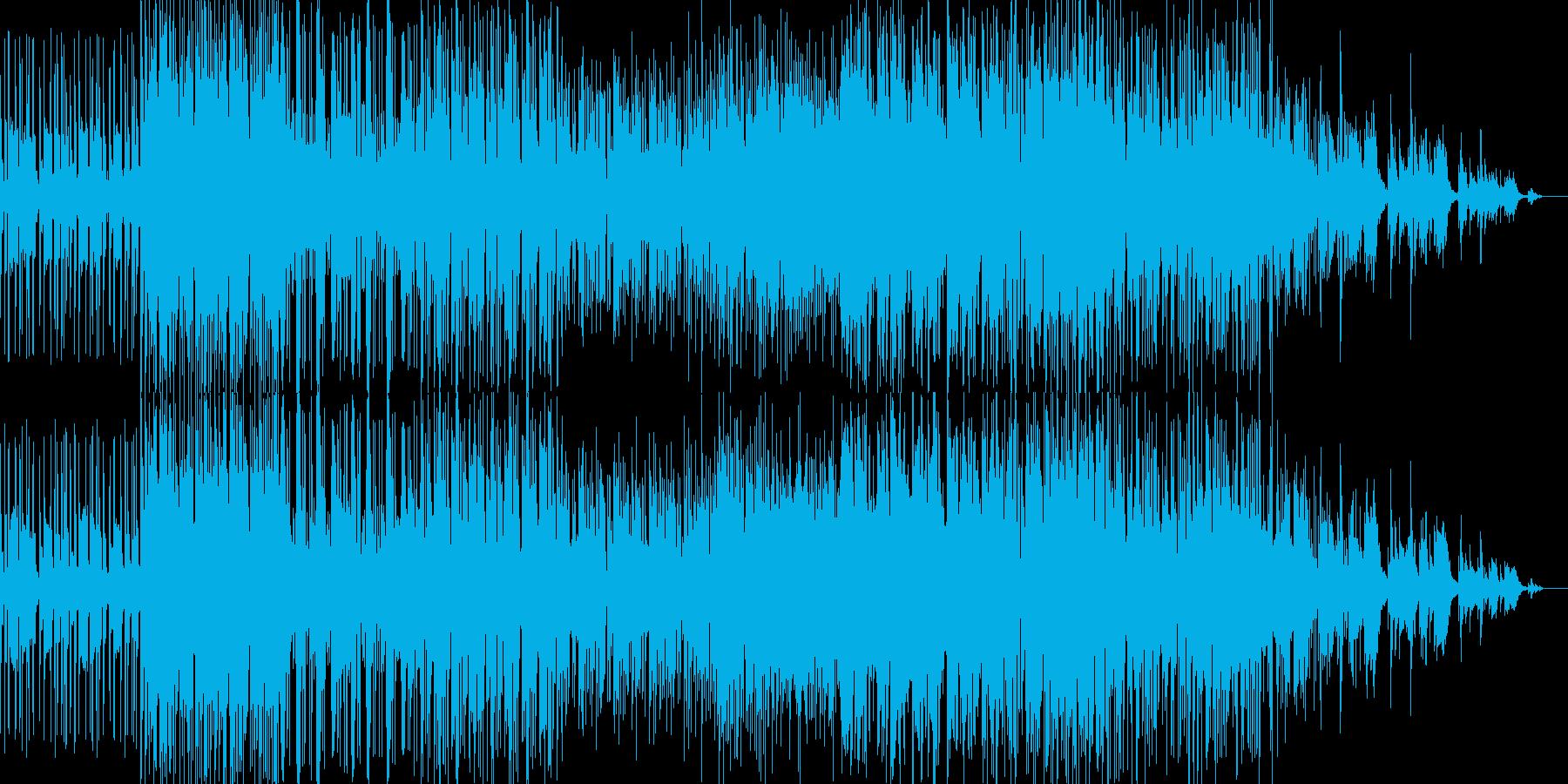 ドラムンベース風グリッジトロニカの再生済みの波形