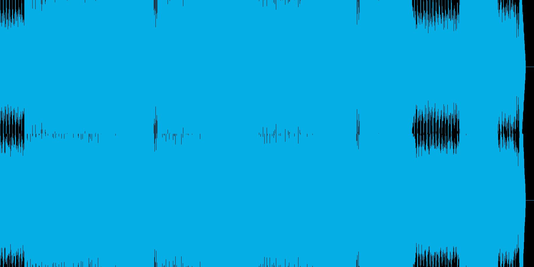 切ない雰囲気のEDM系サウンドの再生済みの波形