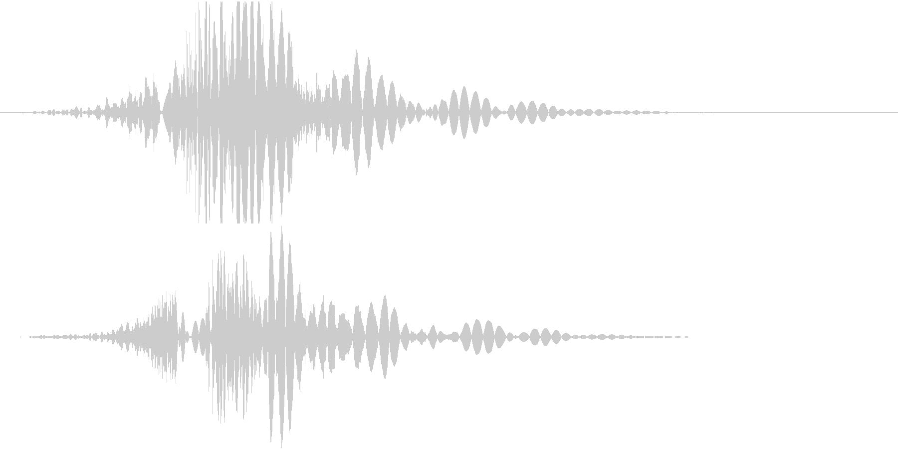 パンチ、8割リアルと2割のディフォルメの未再生の波形