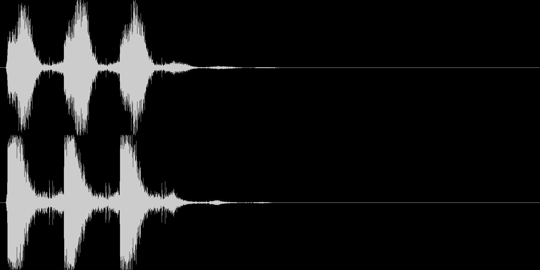 シャッシャッシャッ(振りかけ、塩)の未再生の波形