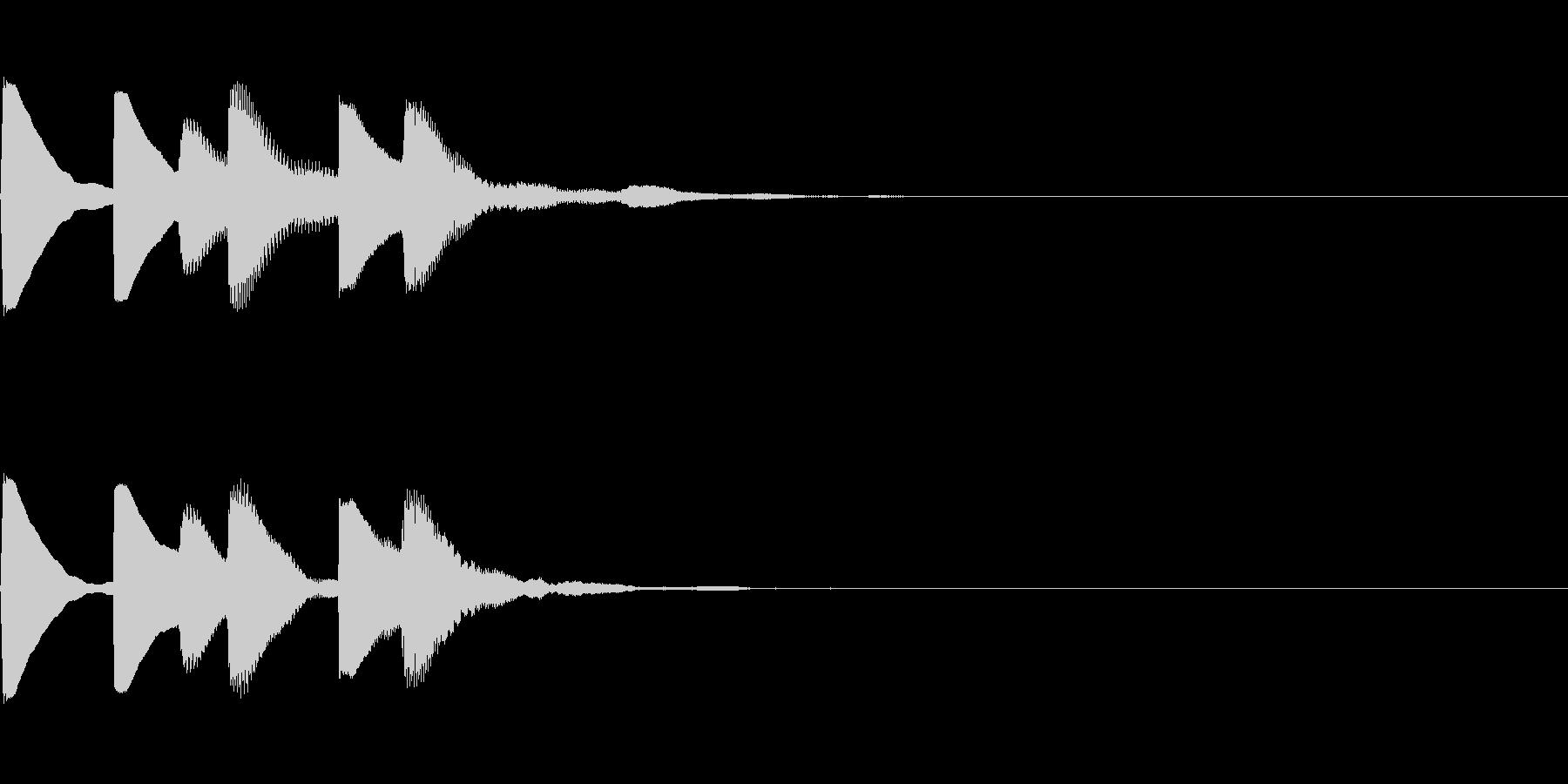 場面切り替え音の未再生の波形