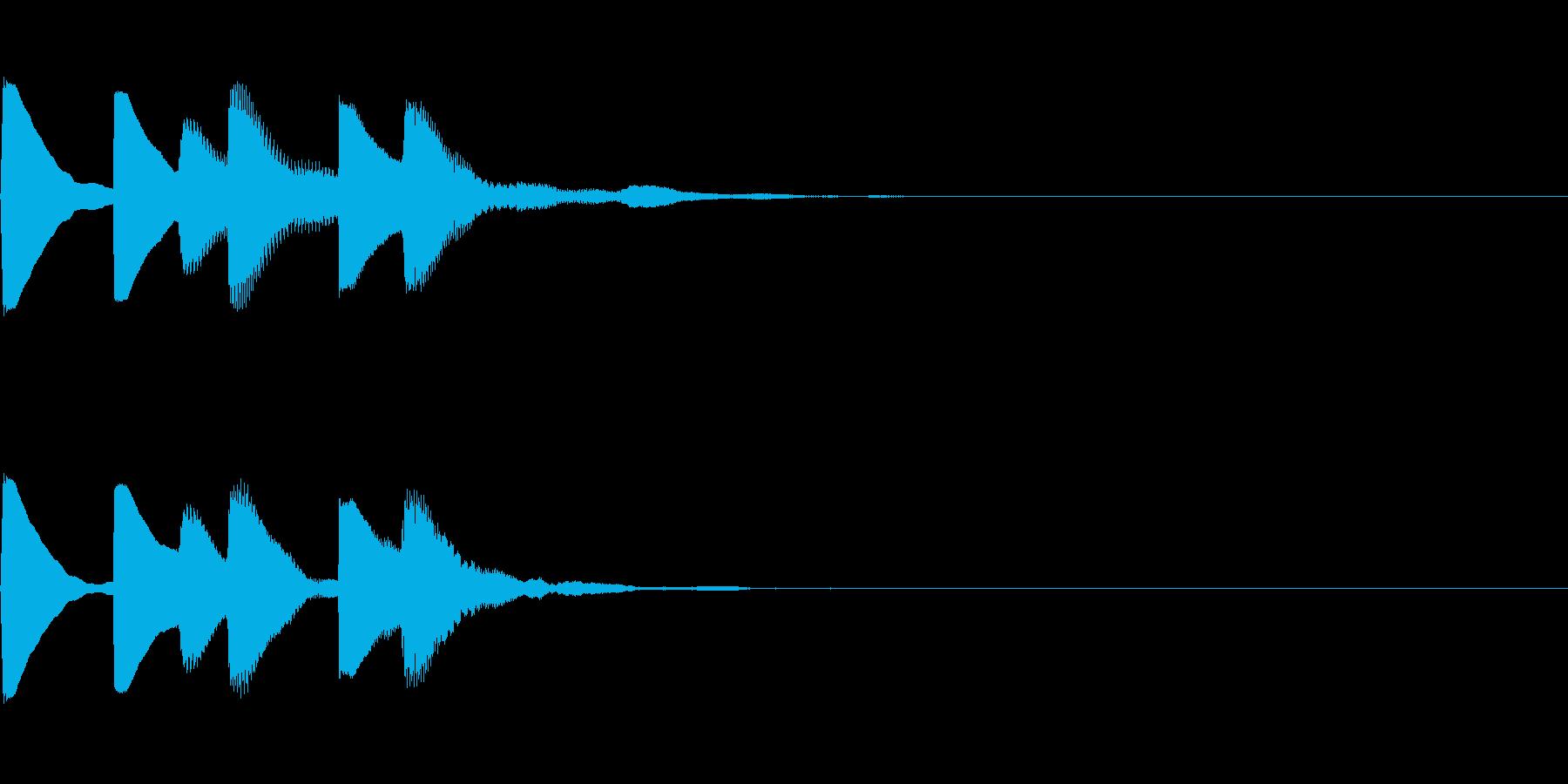 場面切り替え音の再生済みの波形