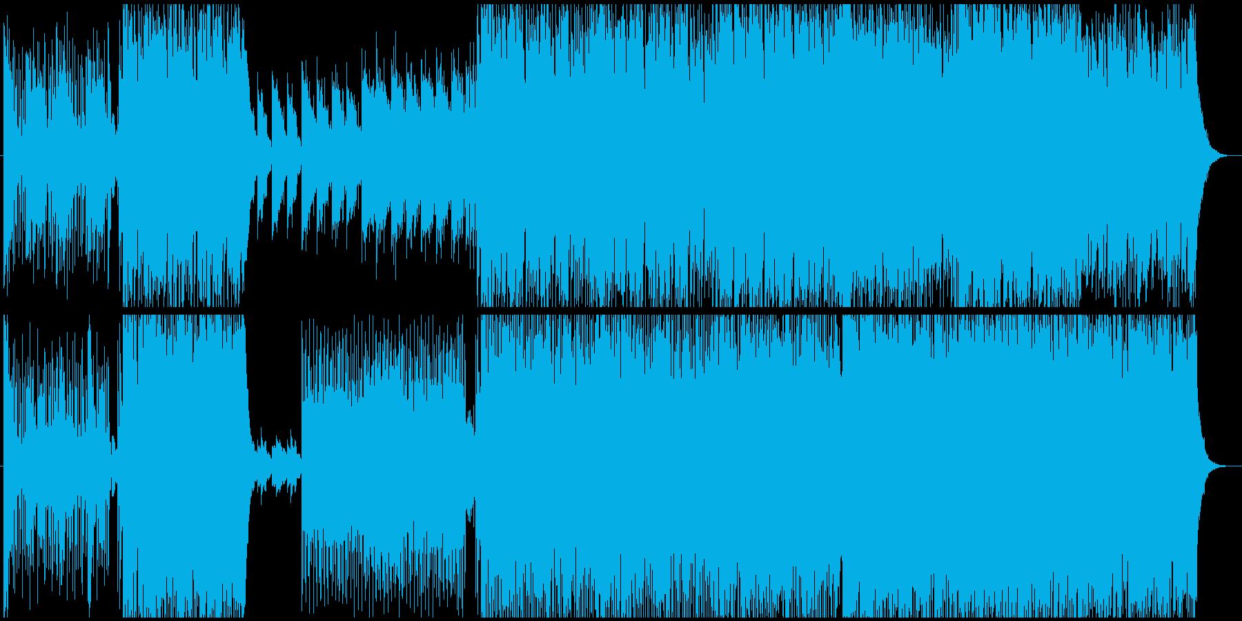 軽快で楽しい雰囲気のエレポップの再生済みの波形