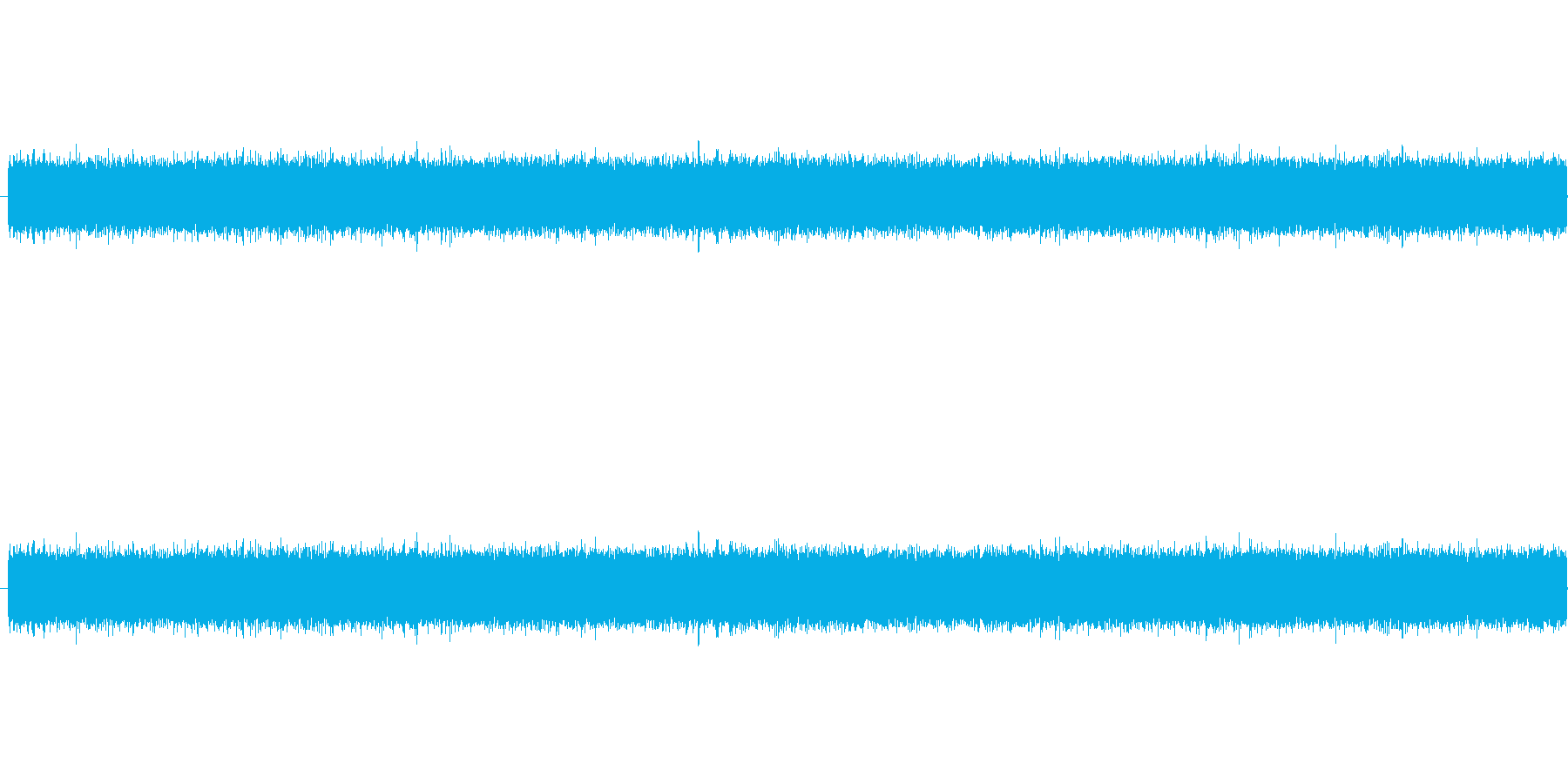 ザー、というノイズ音です。ラジオからサ…の再生済みの波形