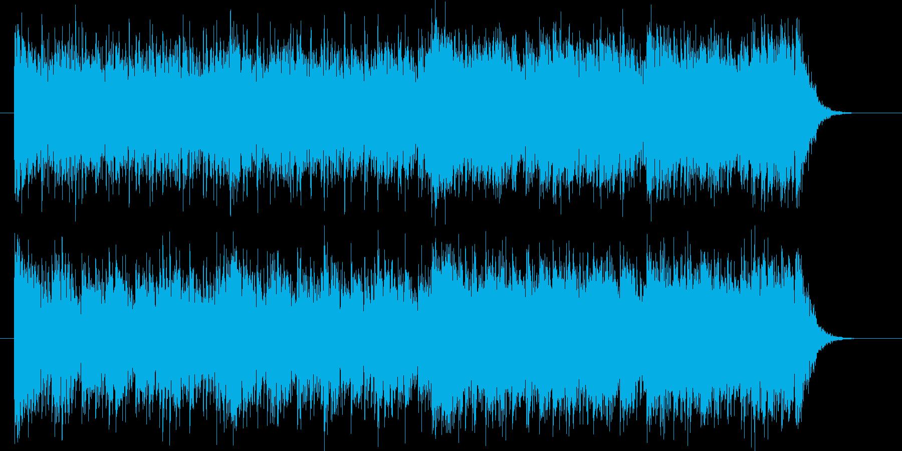 勇ましく重厚な管楽器中心のインスト曲の再生済みの波形