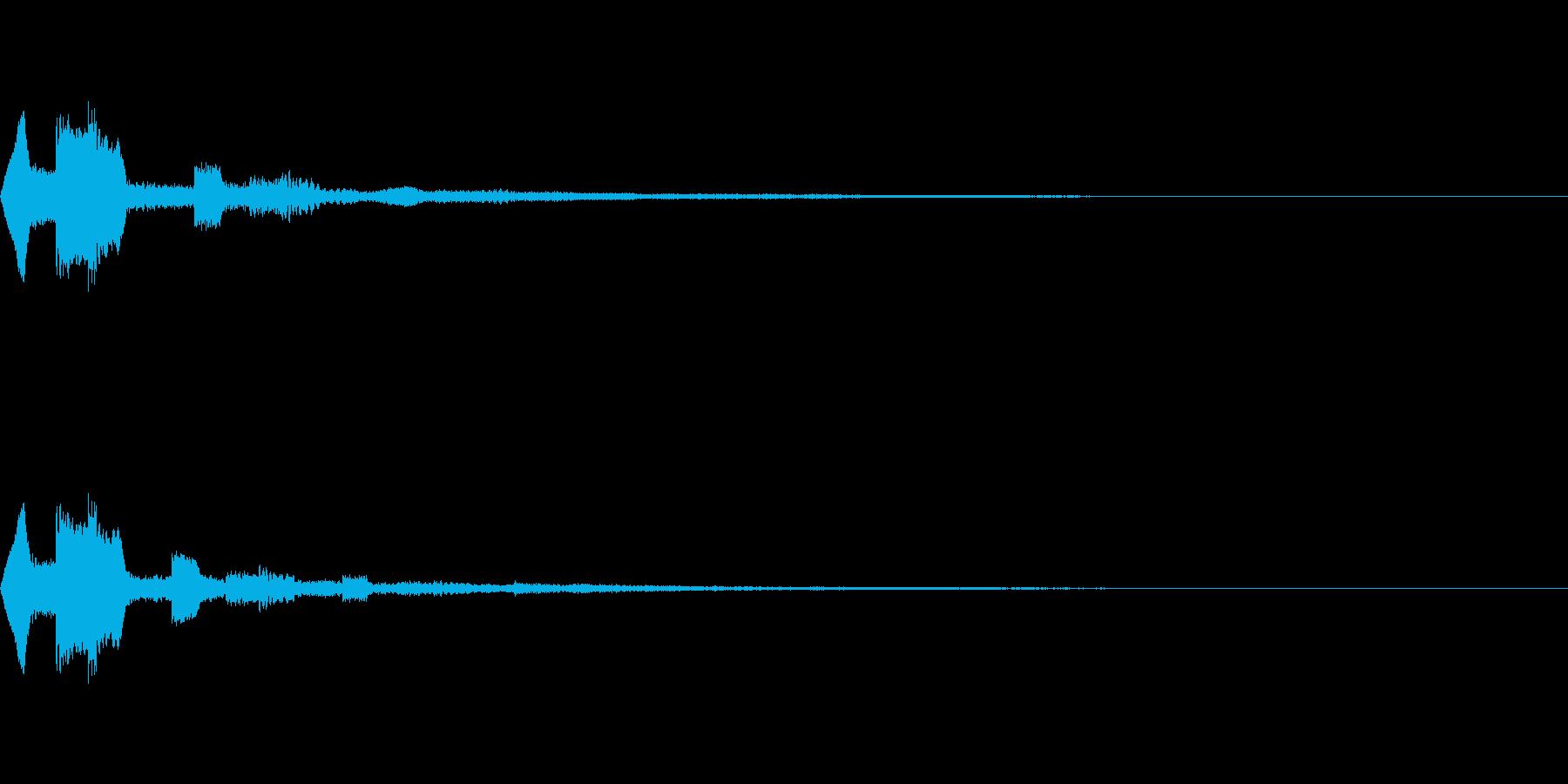 アイテム獲得・決定音・着信音の再生済みの波形
