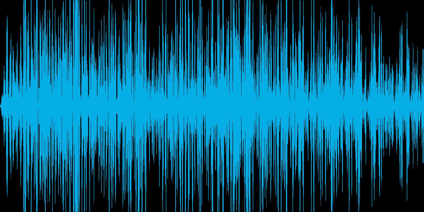 雪崩の音の再生済みの波形