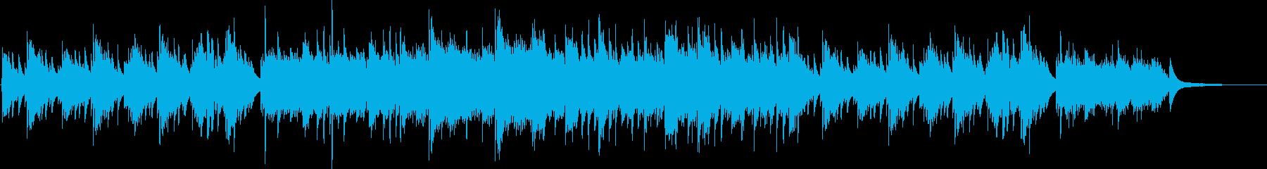 ピアノの優しい曲04の再生済みの波形