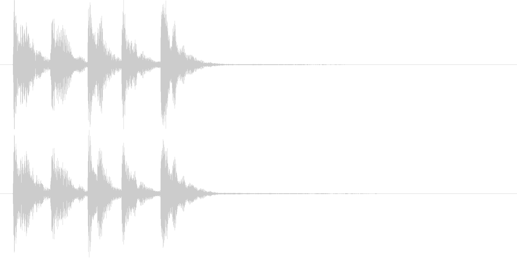 【SE 効果音】不安な音3の未再生の波形