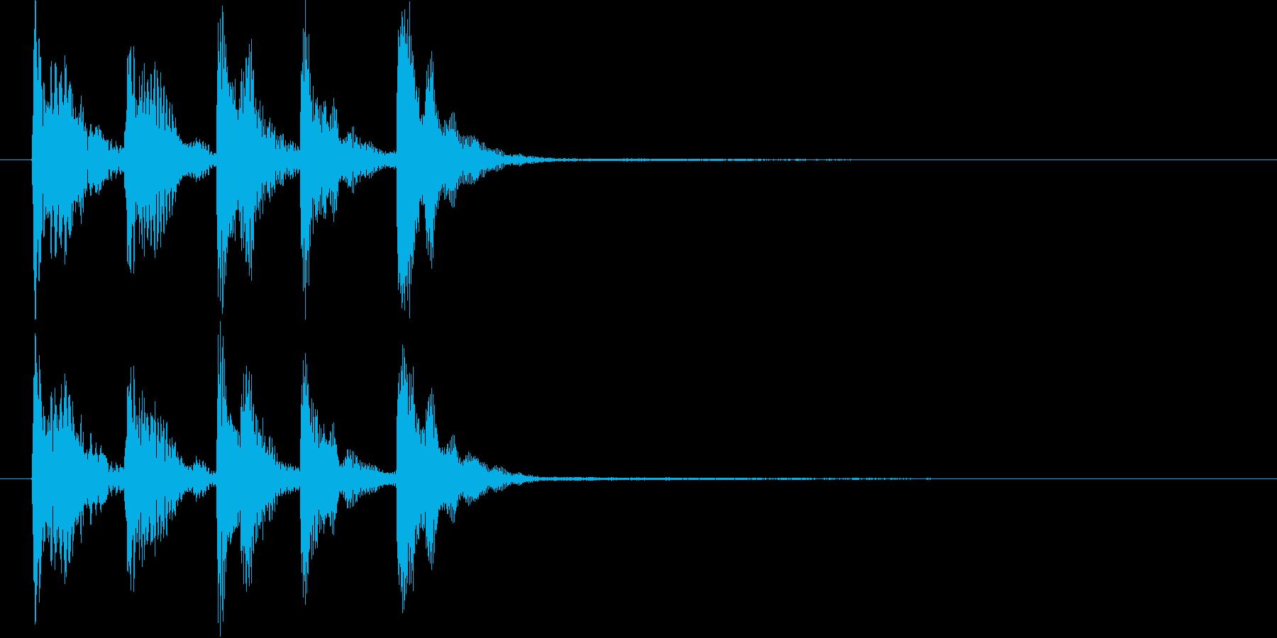 【SE 効果音】不安な音3の再生済みの波形