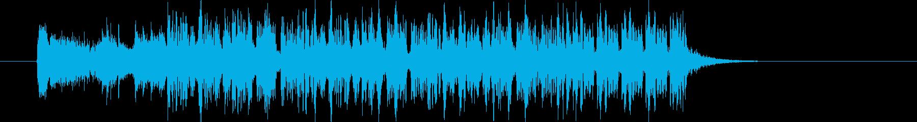 軽快で芯のあるスペーシーな12秒の再生済みの波形