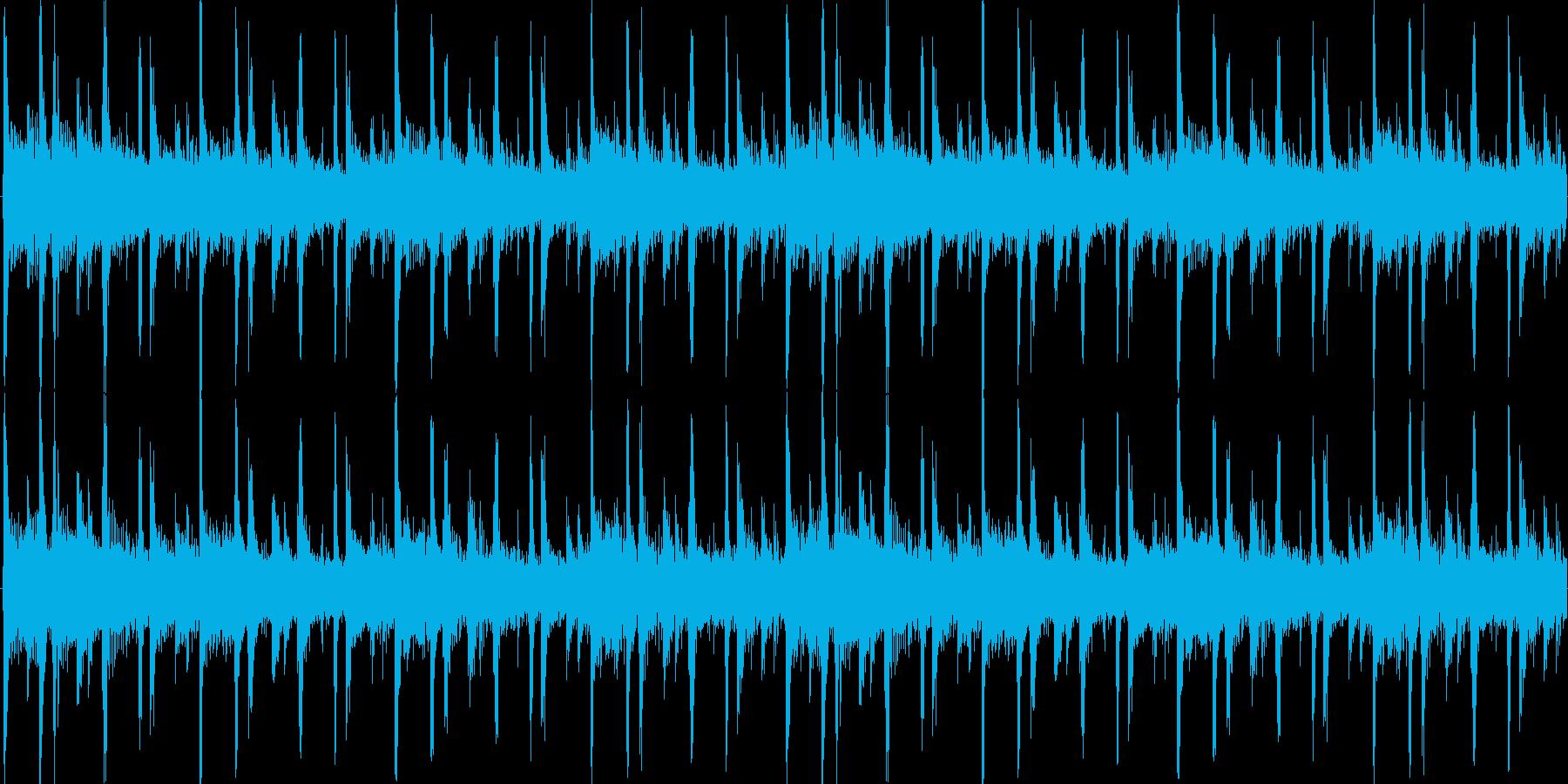 明るく爽やかな15秒BGMの再生済みの波形