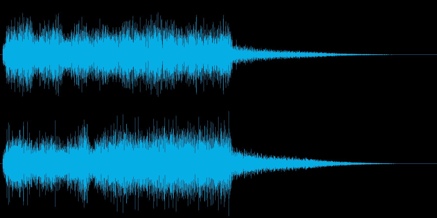 ミスやゲームオーバーに使えるジングルの再生済みの波形
