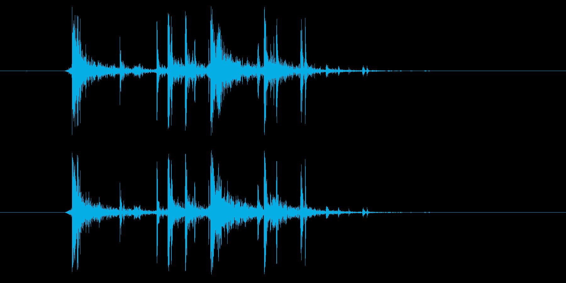 ピキッ(ヒビが入る、短い)の再生済みの波形