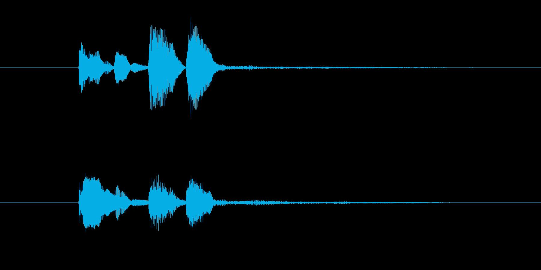 ピアノだけのシンプルで綺麗なジングル5の再生済みの波形