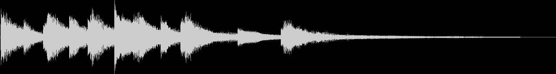 短めの穏やかなピアノのフレーズの未再生の波形