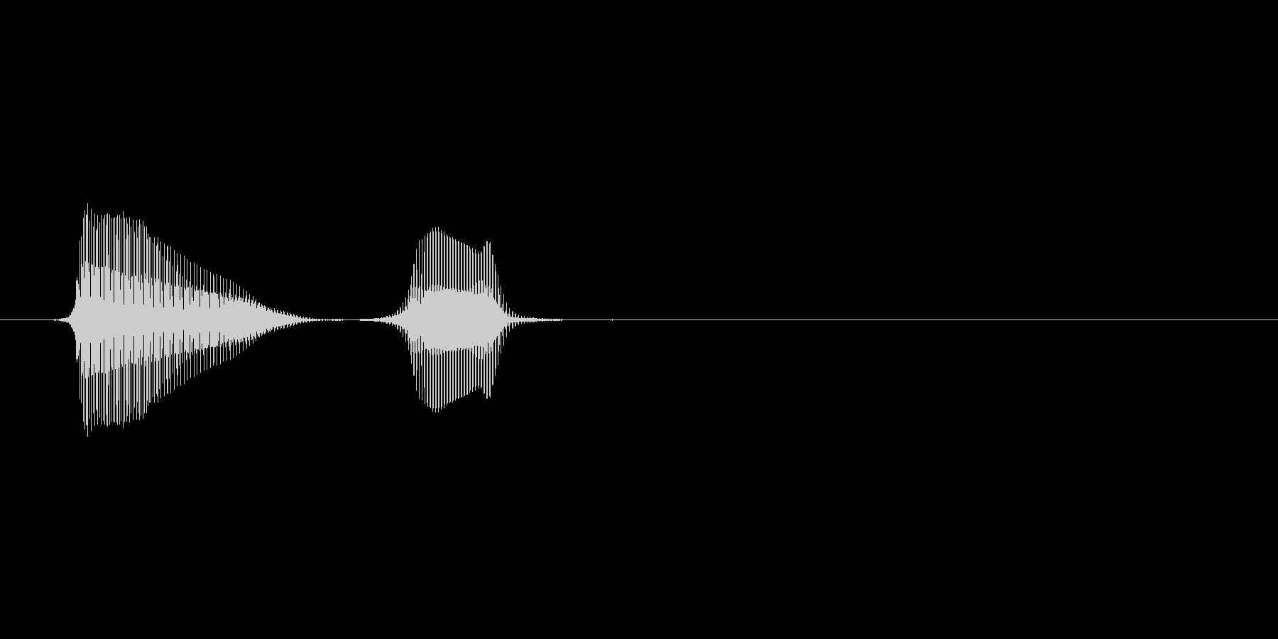 パフパフラッパ3単発 パフッの未再生の波形