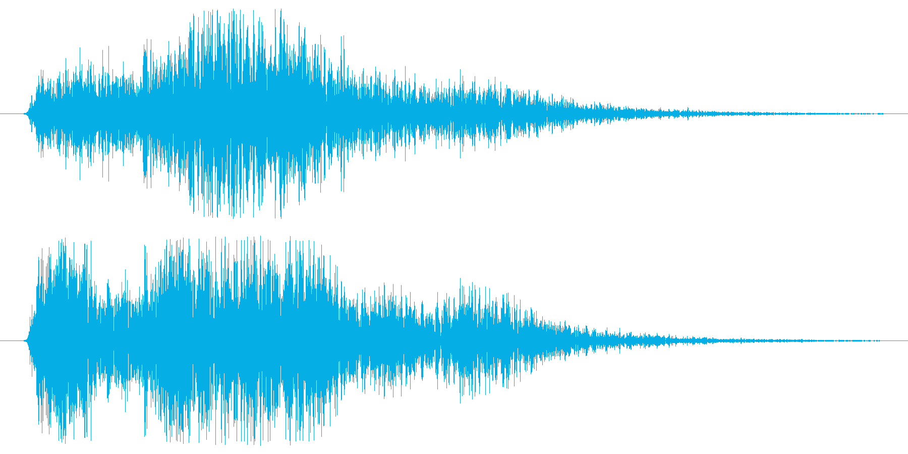 ギュアー。の再生済みの波形