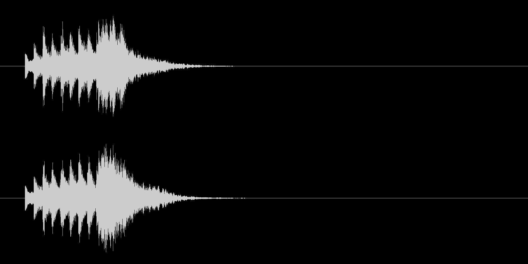 正月にピッタリの和風ジングルの未再生の波形