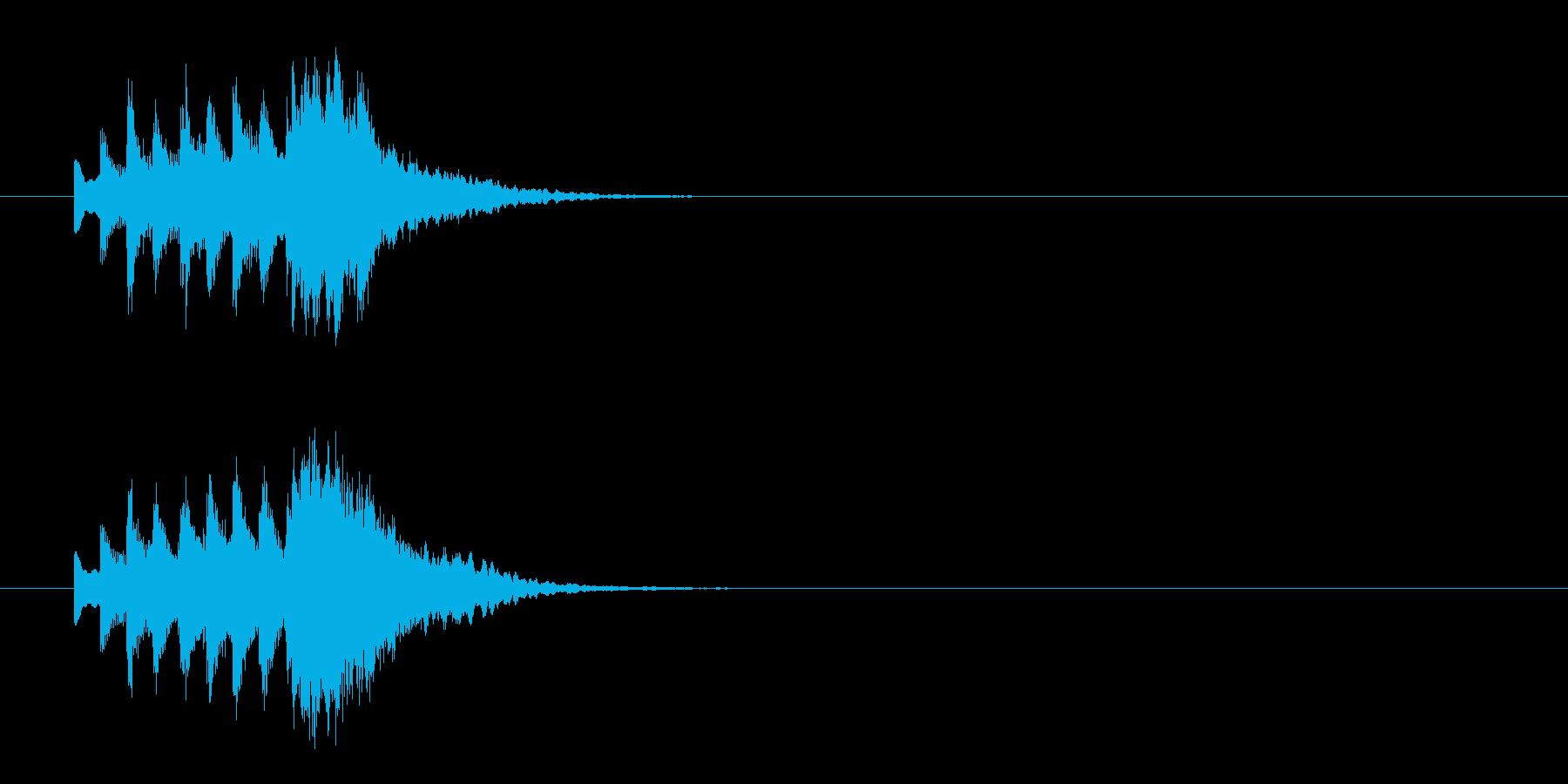 正月にピッタリの和風ジングルの再生済みの波形