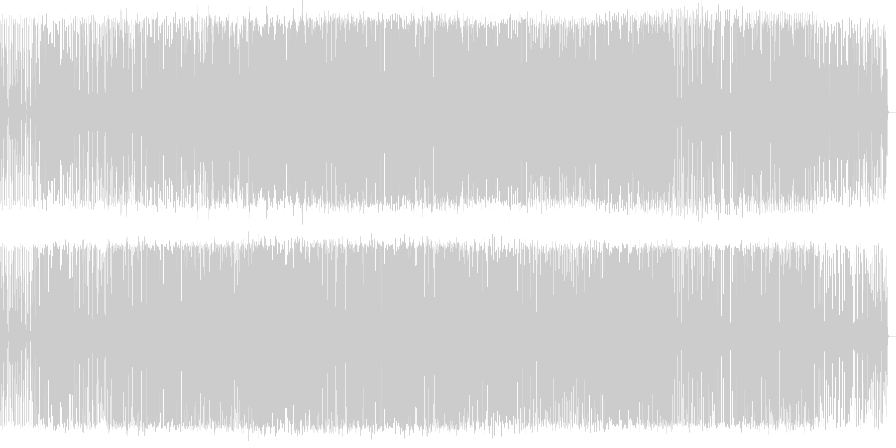 映像向けテクノサウンドの未再生の波形