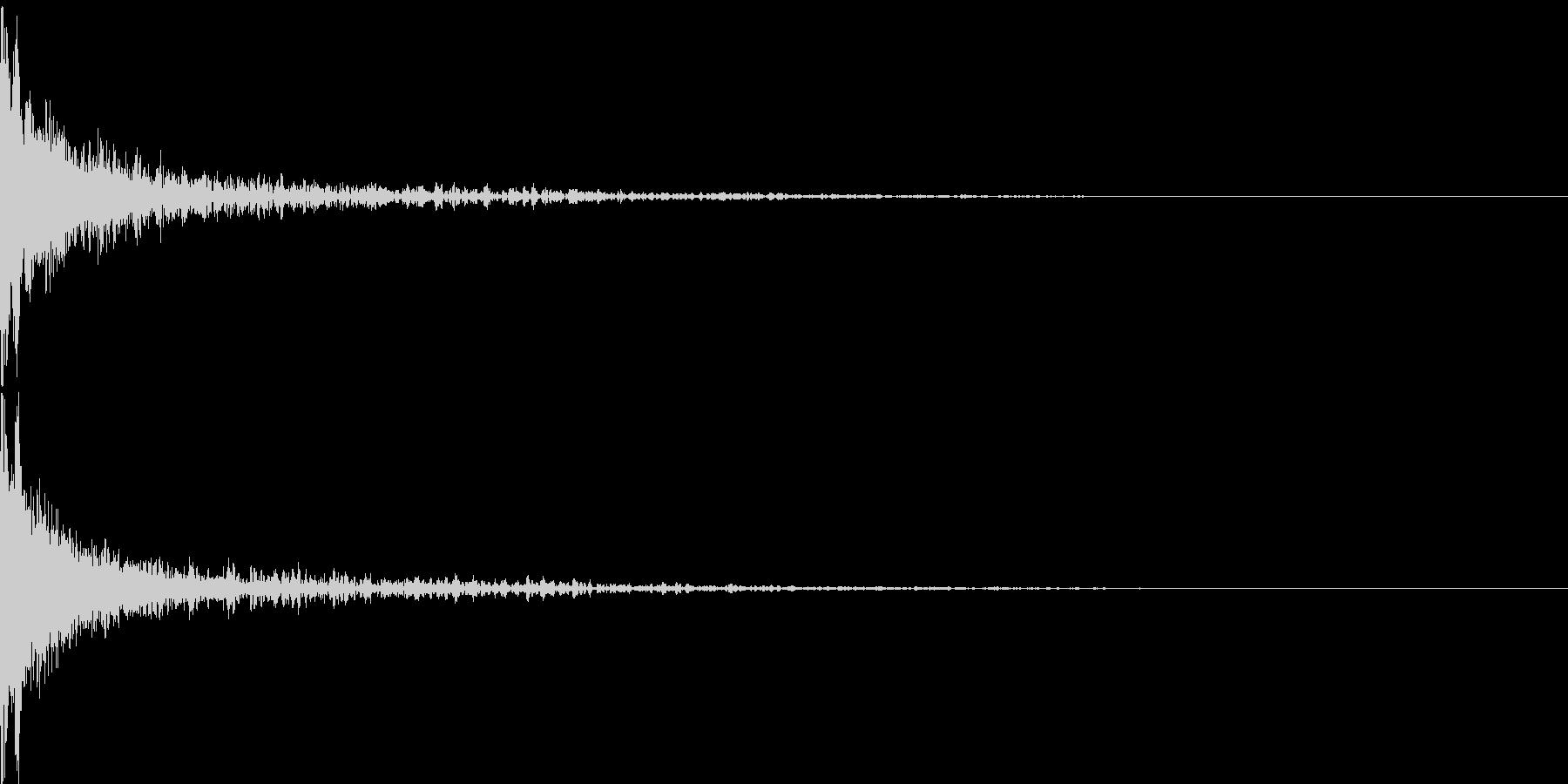 かーん(インパクト)の未再生の波形