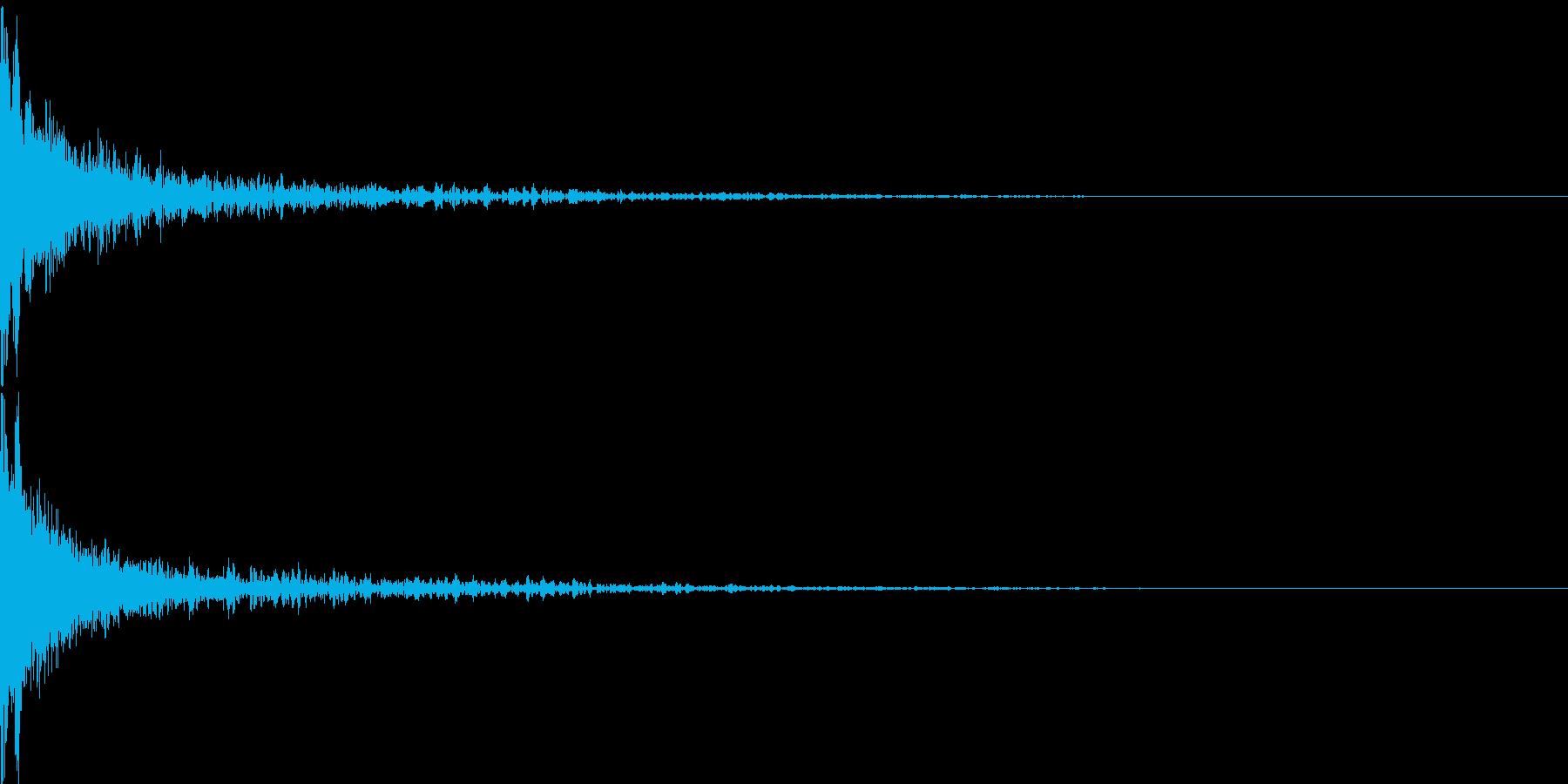 かーん(インパクト)の再生済みの波形