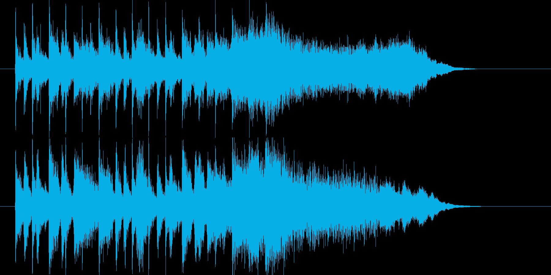 おしゃれで明るいジャズポップスの再生済みの波形