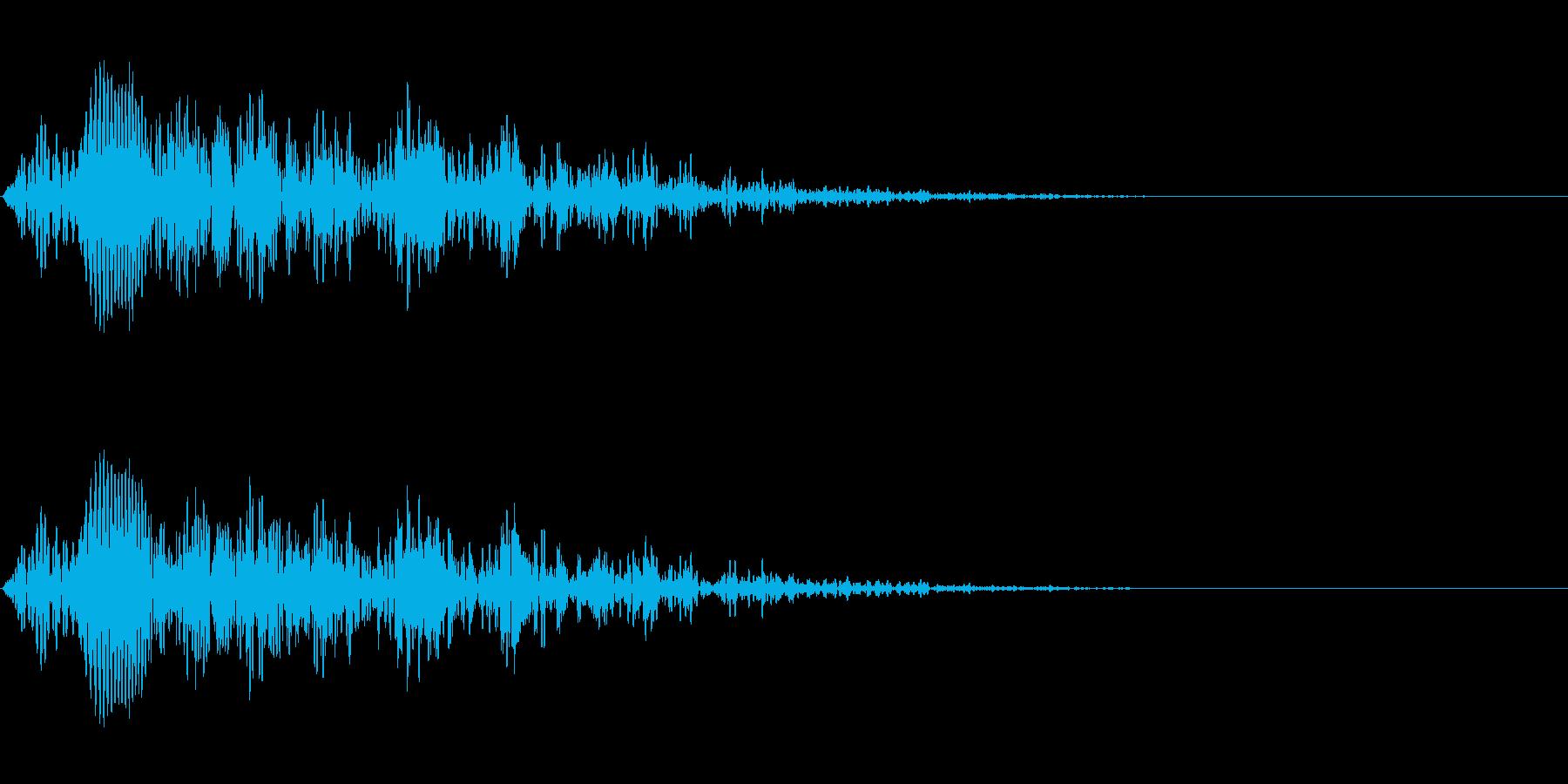 アップリフト系ワンショット(転送)の再生済みの波形
