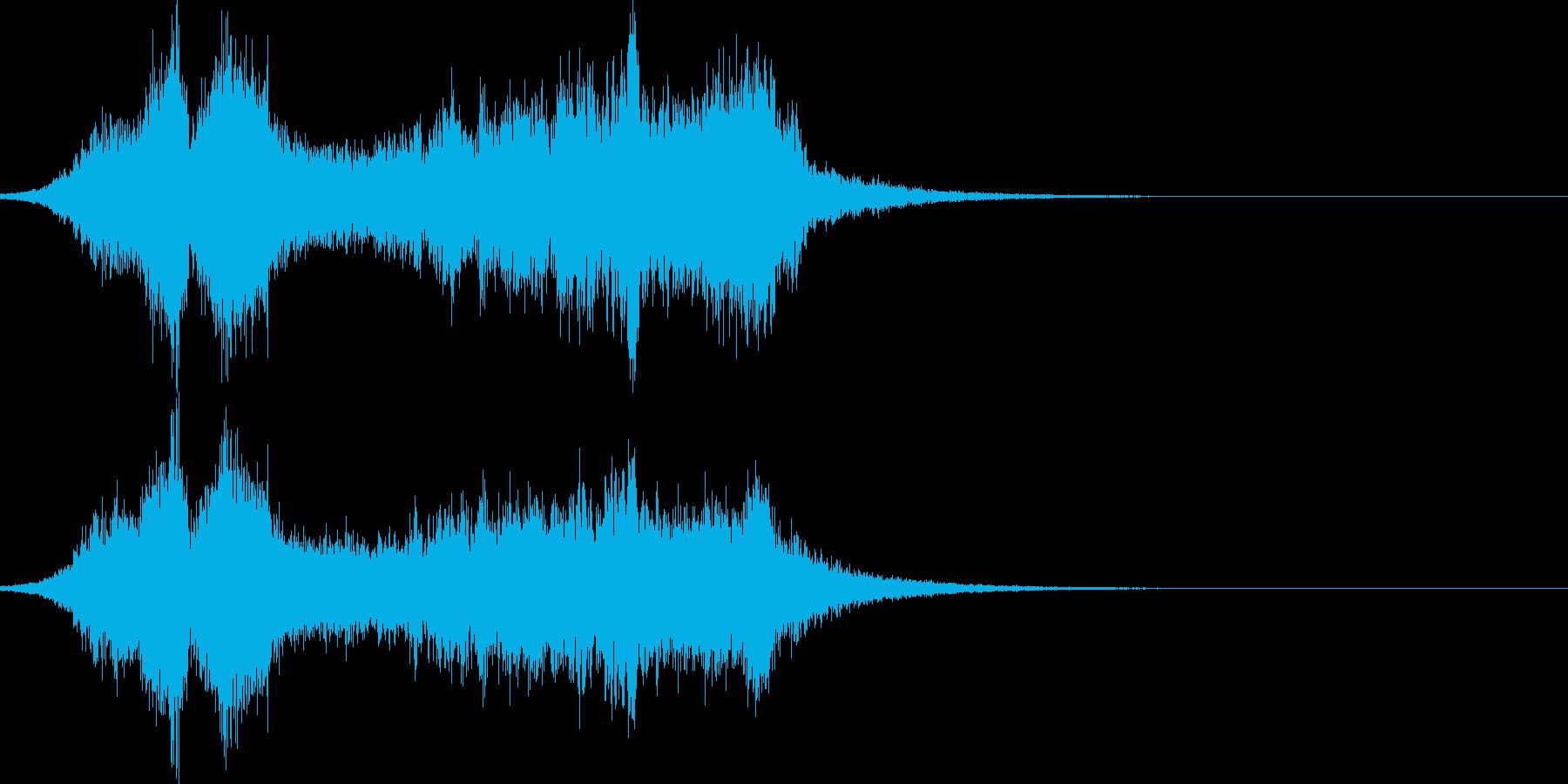 呪術、呪いの魔法。本格的な音。の再生済みの波形