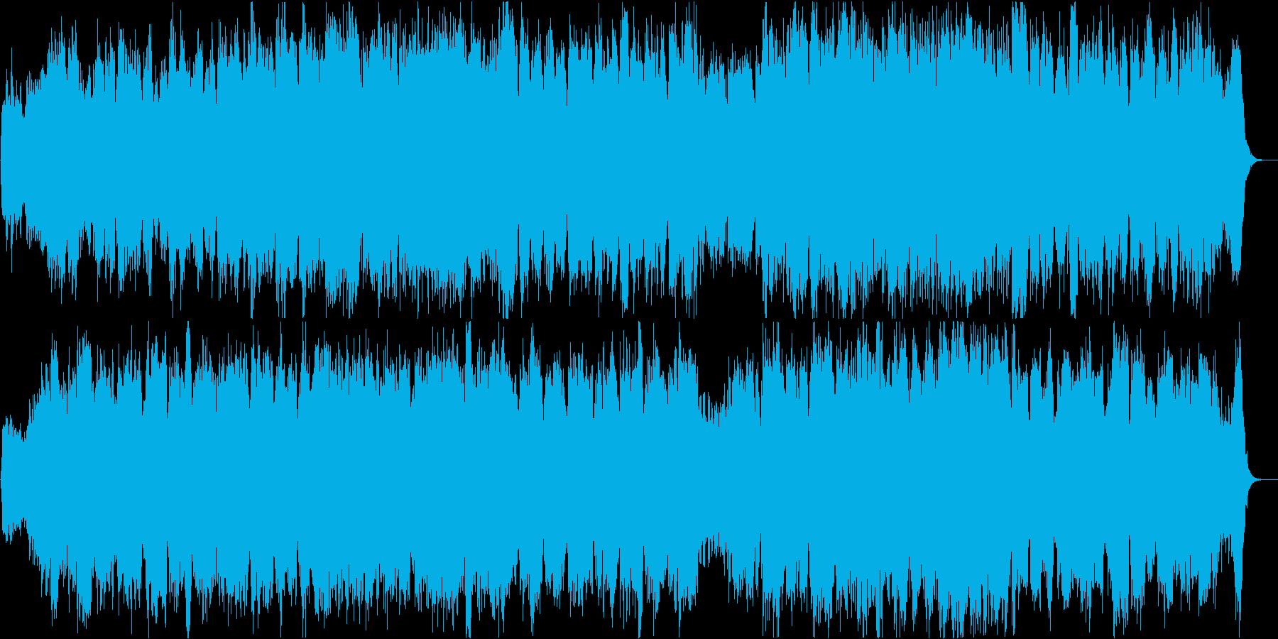 アグレッシブで壮大なホルンとオーケストラの再生済みの波形