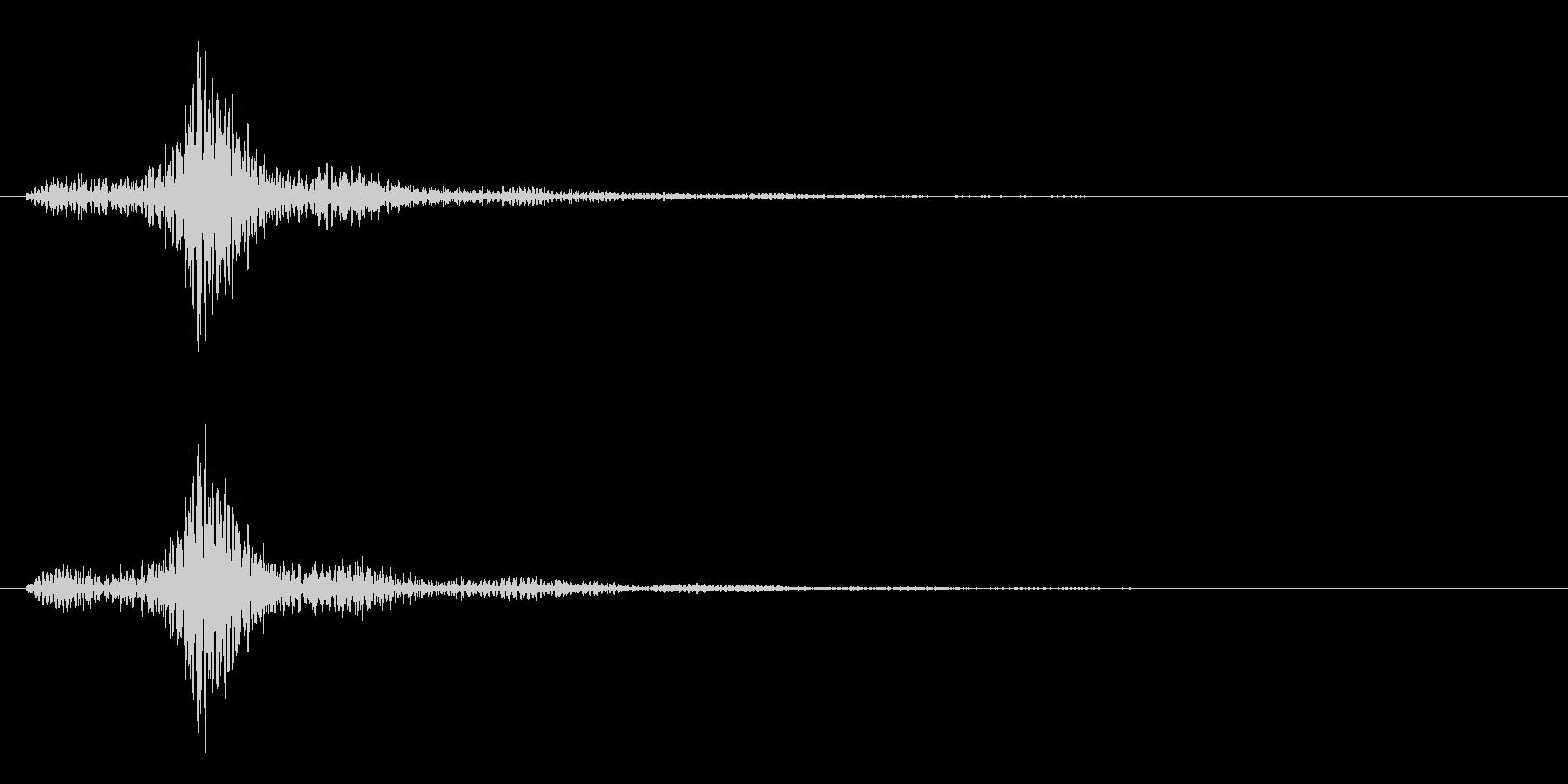 ブォン(重たい系)の未再生の波形