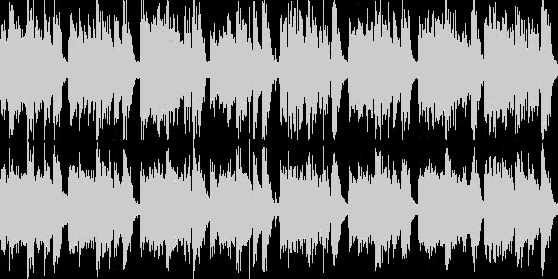 特徴的なリズムのロックジングル_ループの未再生の波形