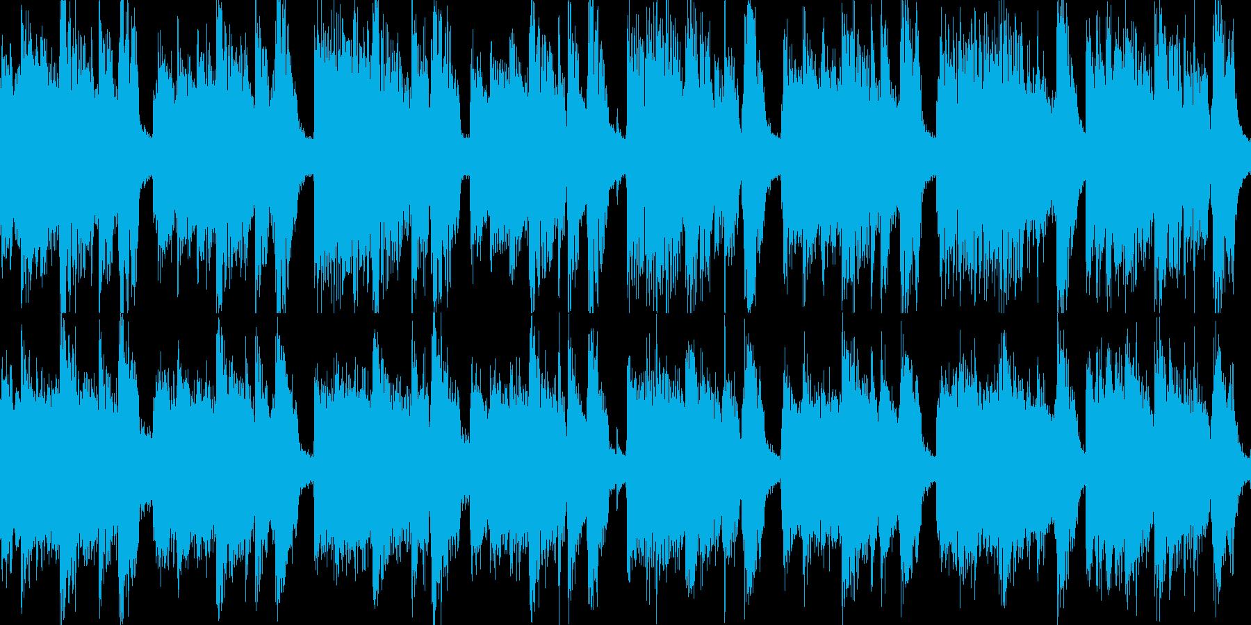 特徴的なリズムのロックジングル_ループの再生済みの波形