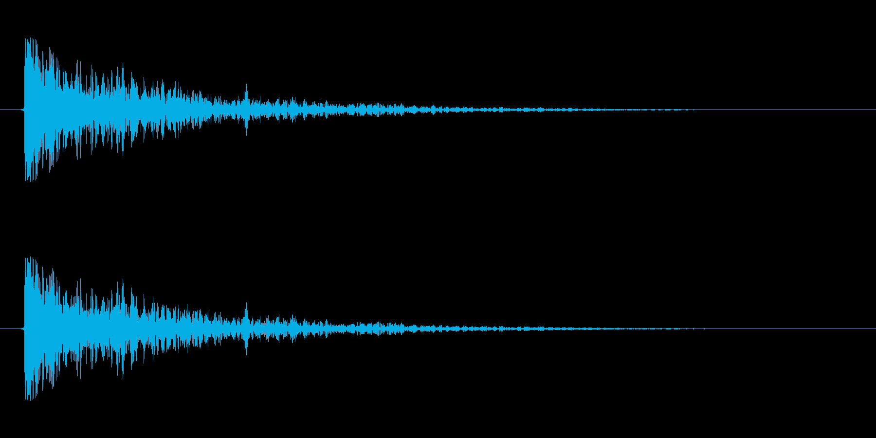 【衝撃06-1】の再生済みの波形