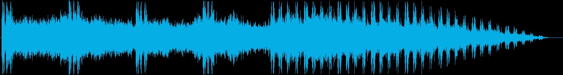 伸びやかなリラクゼーションミュージックの再生済みの波形