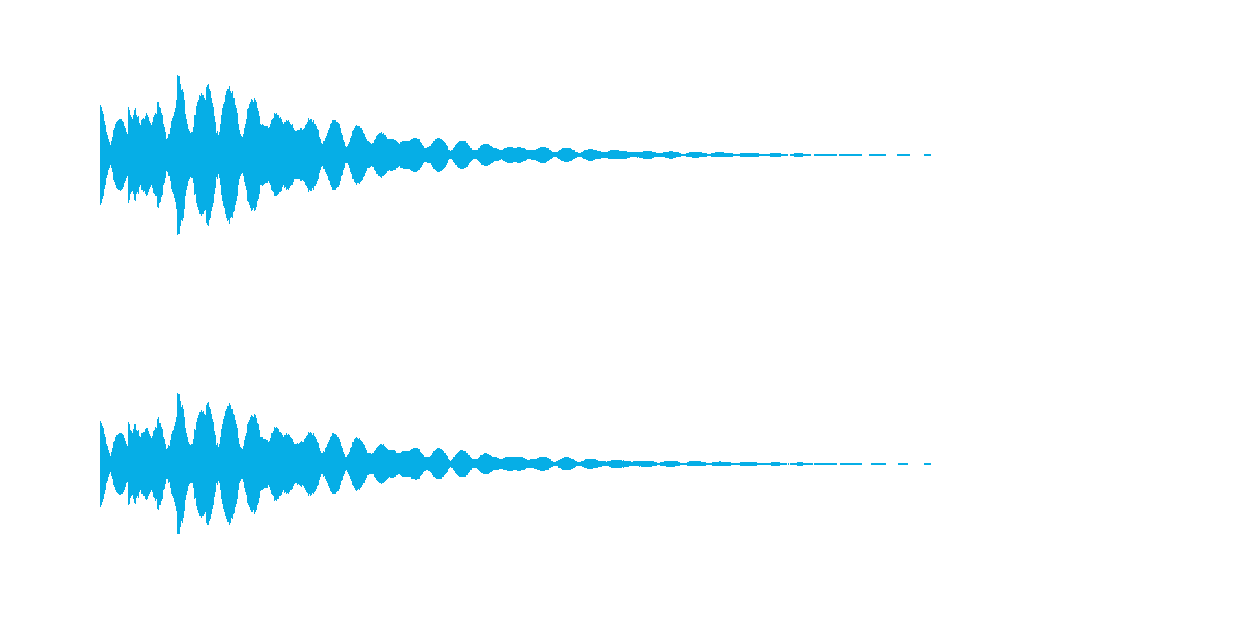 ピポーン(高めに響く決定音)の再生済みの波形