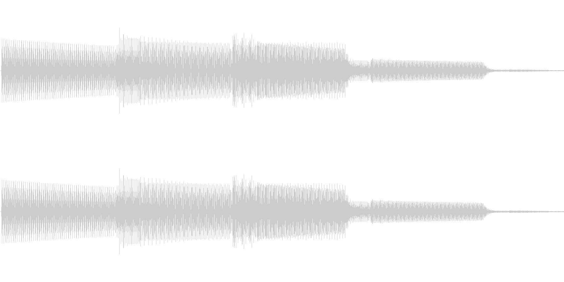ボタン決定音システム選択タッチ登録B09の未再生の波形