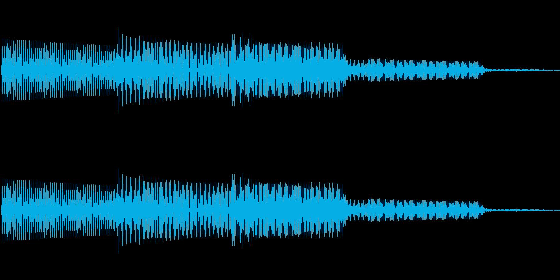 ボタン決定音システム選択タッチ登録B09の再生済みの波形
